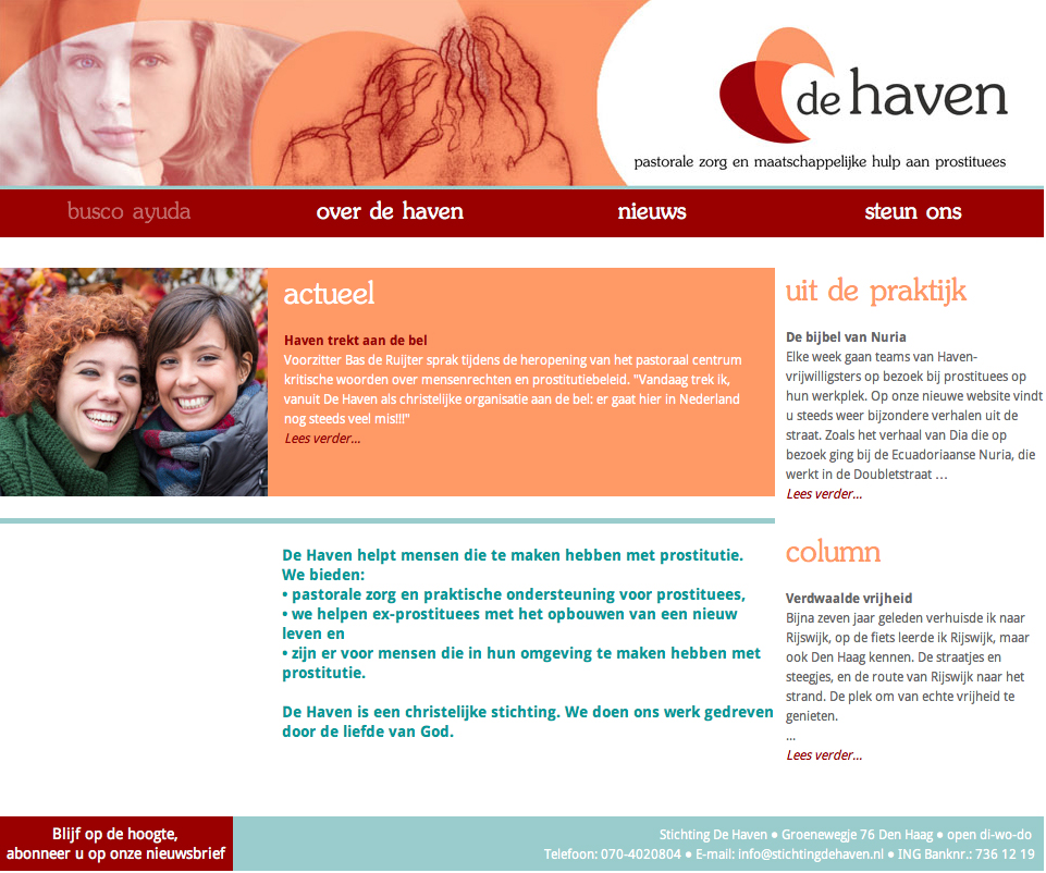 Website Stichting De Haven